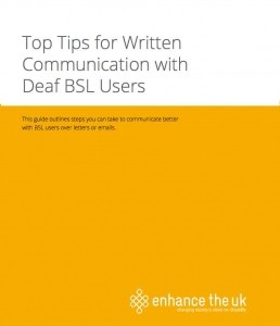 Top tips for written communication with BSL users