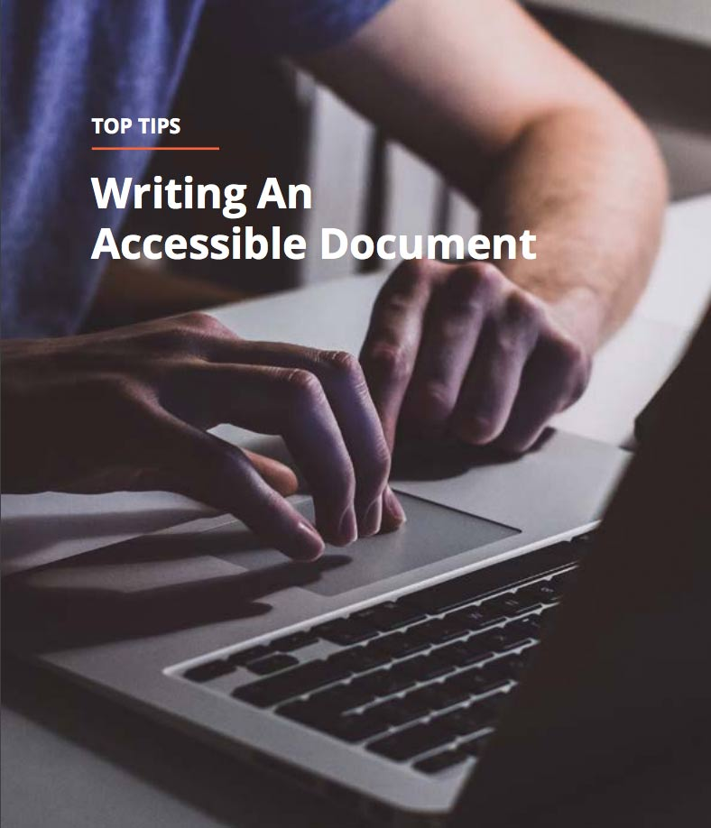 Top tips for writing an accessible document