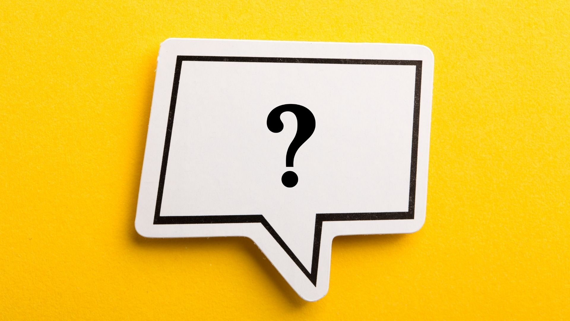 asking questions about someone's disability - a yellow background with a word bubble and a question mark