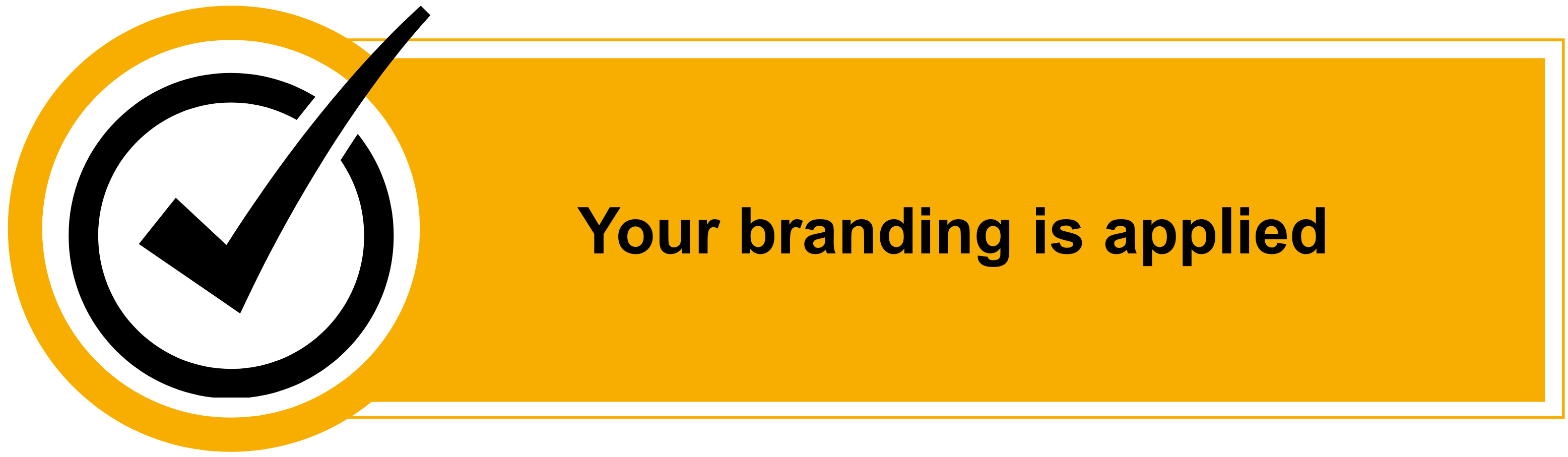 Your branding is applied